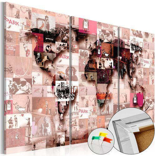Obraz na korku - banksy graffiti collage [mapa korkowa] marki Artgeist