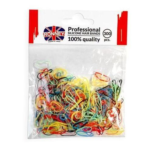 Ronney profesjonalne silikonowe gumki do włosów, kolorowe 300 szt.