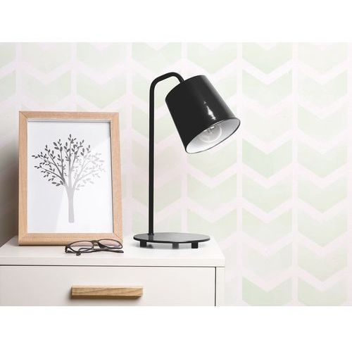 Lampa stołowa biurkowa czarna i biała metal tarim marki Beliani