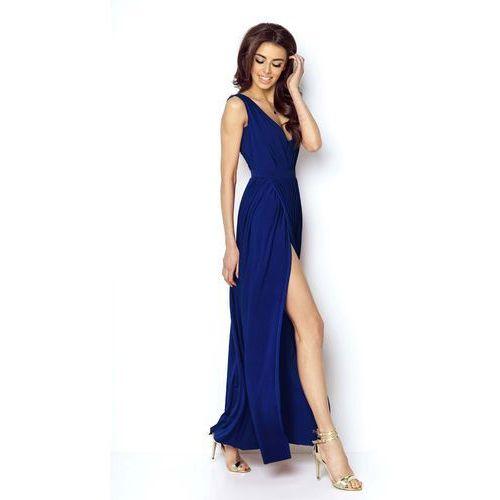 9dc57e5886 Niebieska elegancka maxi sukienka z deko... Producent IVON ...