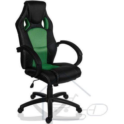 Fotel obrotowy dla gracza, racemaster, zielony marki 1