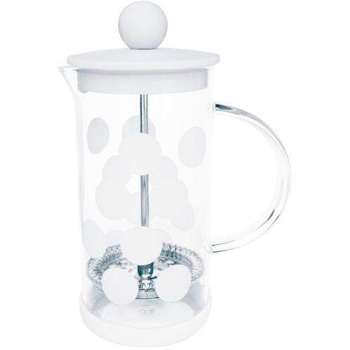 Zak! designs Mała kawiarka french press dot dot 0,35 litra biała (1313-881)