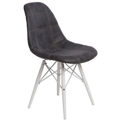 Krzesło P016W Pico inspirowane DSW white - grafitowy, d2-5023