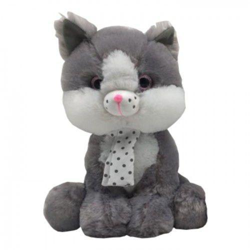 Maskotka Kot szary Silver 23 cm - DARMOWA DOSTAWA OD 199 ZŁ!!!