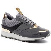Versace Sneakersy collection - v900734 vm00462 va80h grigio/oro/nero