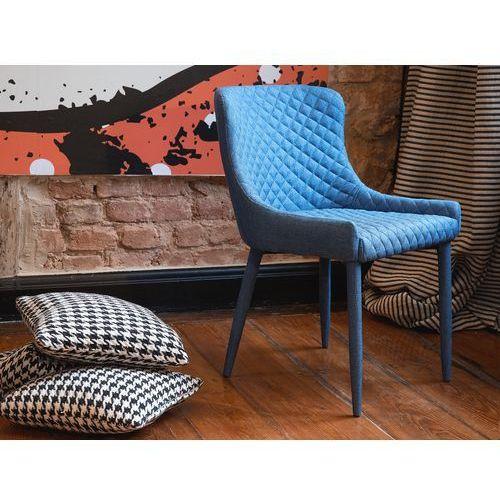 Krzesło granatowe - do jadalni - kuchenne - do salonu - SOLANO, kup u jednego z partnerów