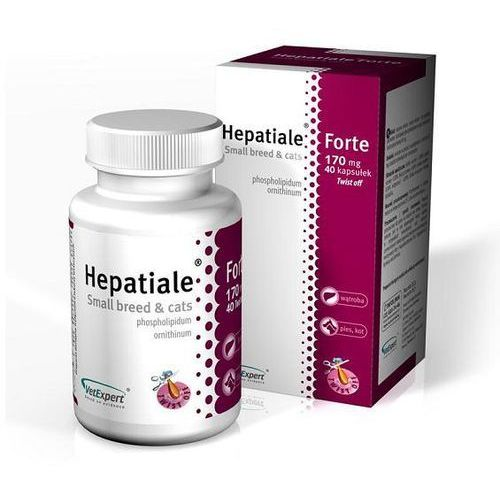 VETEXPERT Hepatiale Forte Small breed & Cats 170mg wspomaga funkcje wątroby