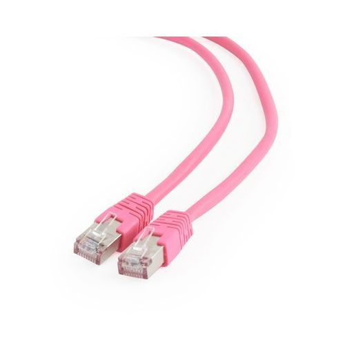 Gembird Patch cord ekranowany FTP kat.6 osłonka zalewana 0.5M różowy, PP6-0.5M/RO