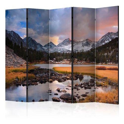 Parawan 5-częściowy - krajobraz górski - nadchodząca wiosna ii [room dividers] marki Artgeist