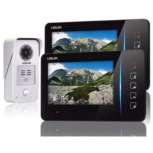 Wideodomofon - 7cali 2xn60_no15nc+3xbrelok (z czytnikiem) marki Leelen technology