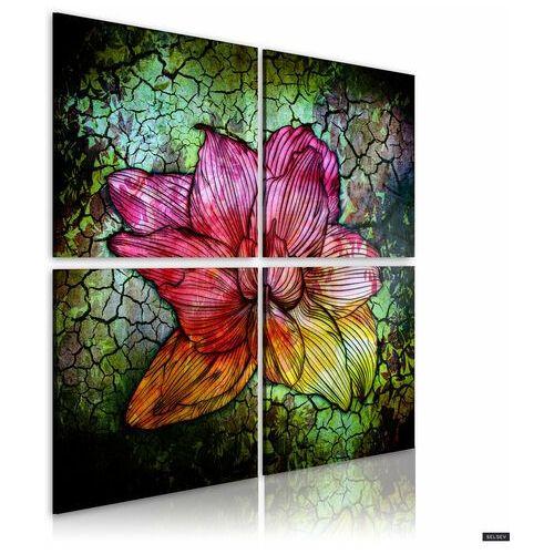 Selsey obraz - szklany kwiat 40x40 cm