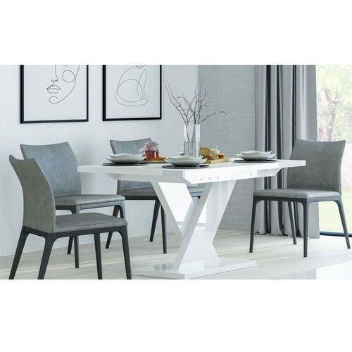 Mato design Stół rozkładany oskar ii 130-210cm biały wysoki połysk