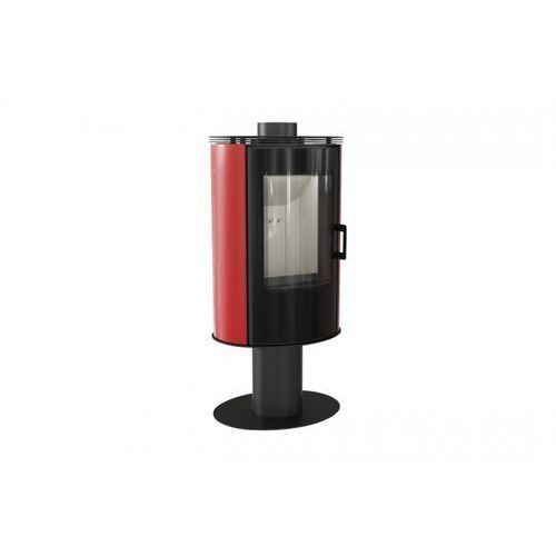 Piec kaflowy KOZA AB S/N/O GLASS kafel czerwony + dodatkowy rabat przy zamówieniu, KOZA AB S/N/O GLASS KAFEL CZERWONY