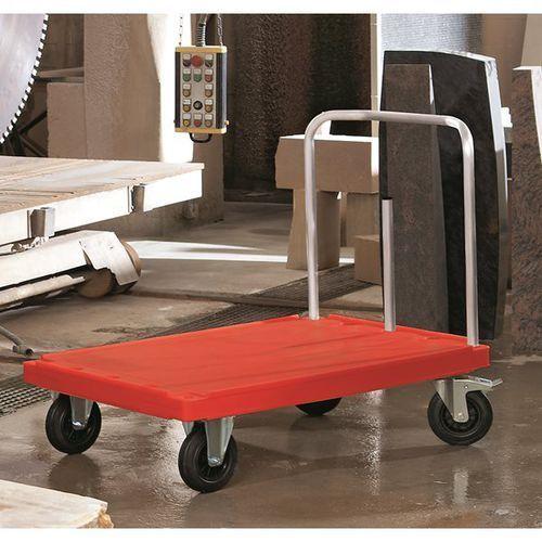 Wózek platformowy do dużych obciążeń, dł. x szer. 900x600 mm, nośność 500 kg, cz marki Unbekannt