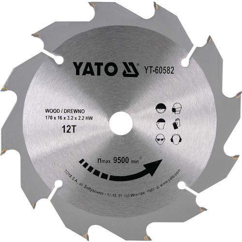 TARCZA WIDIOWA DO DREWNA 170X12TX16MM Yato YT-60582 - ZYSKAJ RABAT 30 ZŁ (5906083605826)