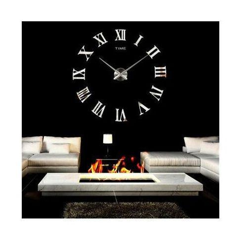 Timelike Duży zegar ścienny retro 3d (regulowana średnica od 65-150cm!!) - w 2 kolorach do wyboru.