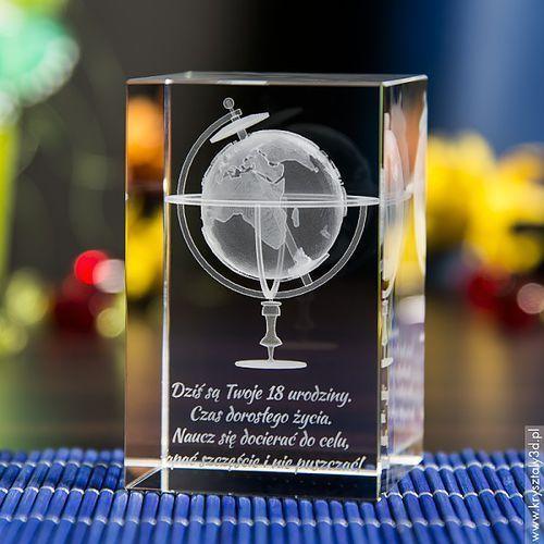 Globus 3D • personalizowany kryształ 3D średni • GRAWER 3D