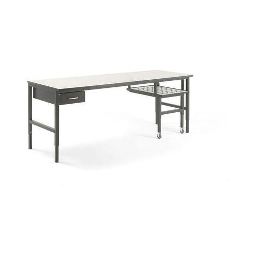 Stół roboczy cargo, z wysuwaną półką, 2400x750 mm, szuflada marki Aj produkty