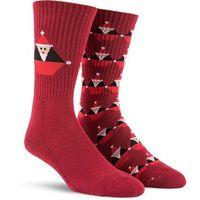 Volcom Skarpetki - santastone sock deep red (dre)