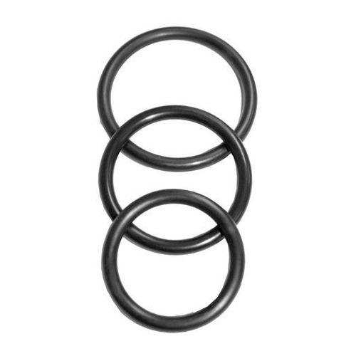 Trzy pierścienie na penisa - S&M Nitrile Cock Ring 3 Pack