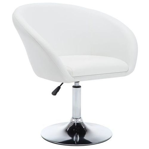 Obrotowe krzesło do jadalni, ekoskóra, 67,5x58,5x87 cm, białe, kolor biały