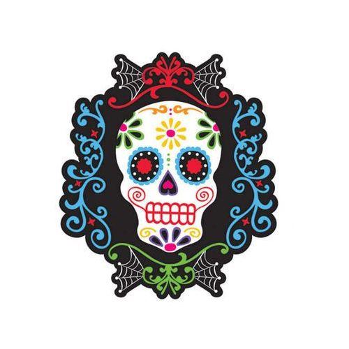 Amscan Dekoracja dwustronna meksykańska czacha na halloween - 1 szt.