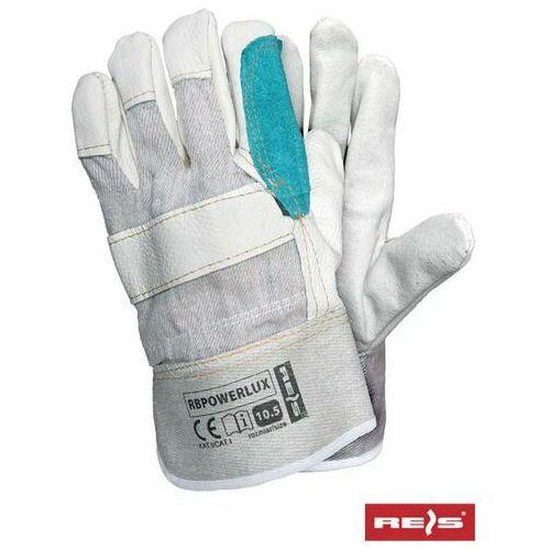 R.e.i.s. Rękawice robocze wzmacniane skórą licową rbpowerlux rozmiar 10