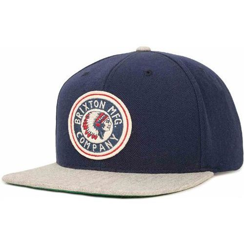 czapka z daszkiem BRIXTON - Rival Navy/Light Heather Grey (0864) rozmiar: OS, kolor niebieski
