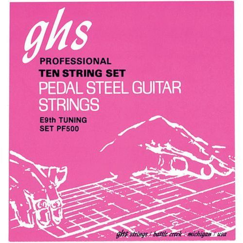 pedal steel niklowany rockers - struny do pedal steel guitar, 10-strings, c6 tuning,.012-.036 marki Ghs