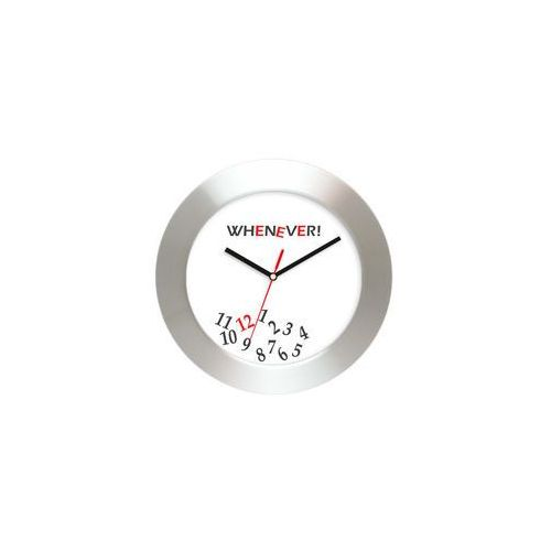 Aluminiowy zegar naścienny whenever, AL2412WE