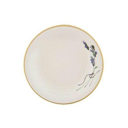 Mieroszów 6 ceramicznych talerz deserowy lawenda