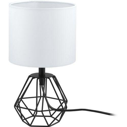 lampa stołowa CARLTON 2 czarna z białym kloszem, EGLO 95789