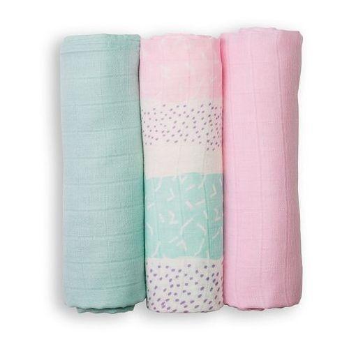Lulujo mini pieluszki pink tropical 3szt