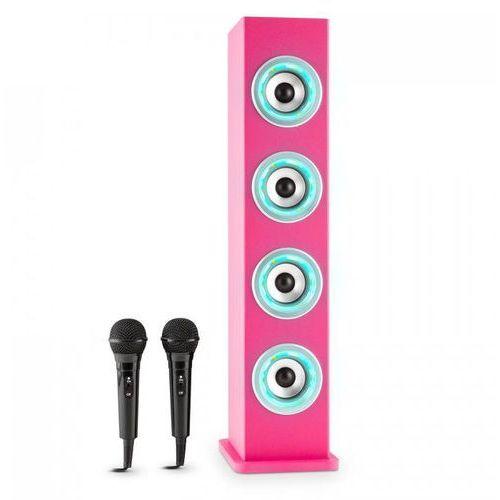 Karaboom pk led kolumna bluetooth usb aux ukf karaoke 2 x mikrofon marki Auna