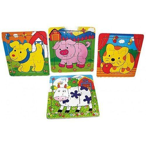 Drewniane Puzzle Małe Zwierzęta, ZB-2470 (159333)