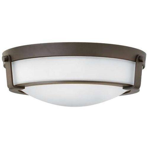 Hinkley Plafon lampa sufitowa hk/hathaway/f/mb elstead okrągła oprawa klasyczna natynkowa zewnętrzna outdoor ip44 brąz biała