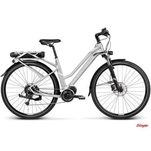 Rower Kross TRANS HYBRID 3.0 W Srebrny/biały mat 2018