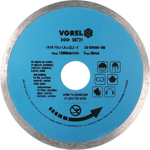Tarcza diamentowa 115 mm, segment ciągły Vorel 08731 - ZYSKAJ RABAT 30 ZŁ (5906083087318)