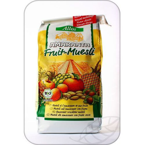 Allos: musli amarantusowe z owocami BIO - 375 g