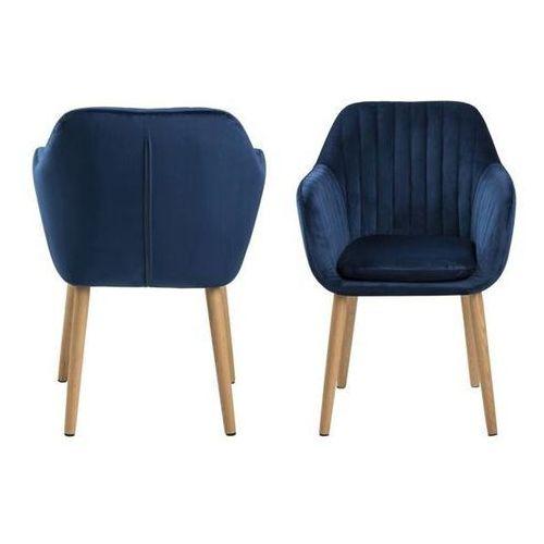 Krzesło Emilia Velvet - niebieski ciemny, 112659