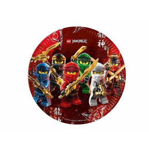 Talerzyki urodzinowe lego ninjago - 23 cm - 8 szt. marki Procos disney