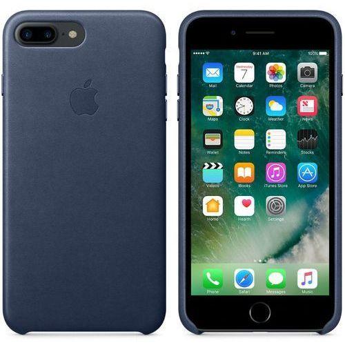 Apple Leather Case - Skórzane etui iPhone 7 Plus (nocny błękit), MMYG2ZM/A