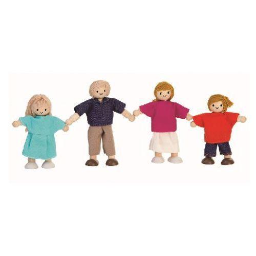 Rodzina drewnianych lalek do zabawy, , plto 7415 marki Plan toys