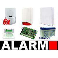Zestaw alarmowy SATEL Integra 32, Manipulator LCD, 6 czujek ruchu PET, sygnalizator zewnętrzny, Ai06