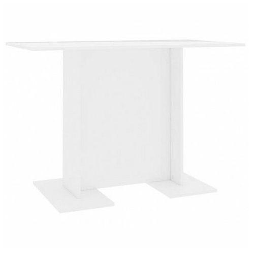 Biały nowoczesny stół z połyskiem - Rivers, vidaxl_800249