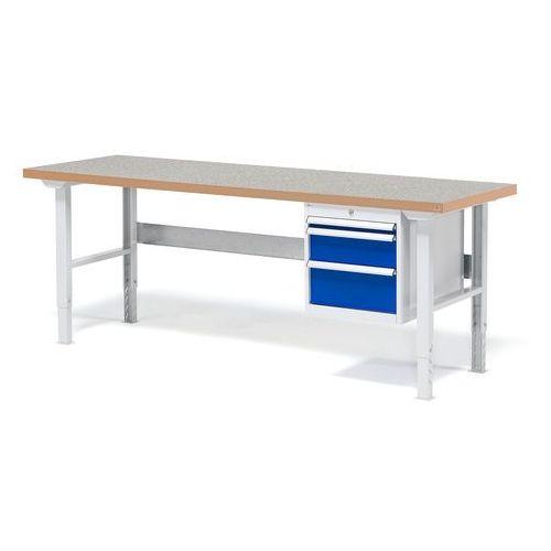 Stół warsztatowy solid, zestaw z 3 szufladami, 500 kg, 2000x800 mm, winyl marki Aj produkty