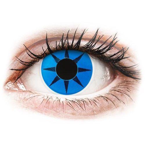 Soczewki kolorowe niebieskie BLUE STAR Crazy Lens 2 szt., 277