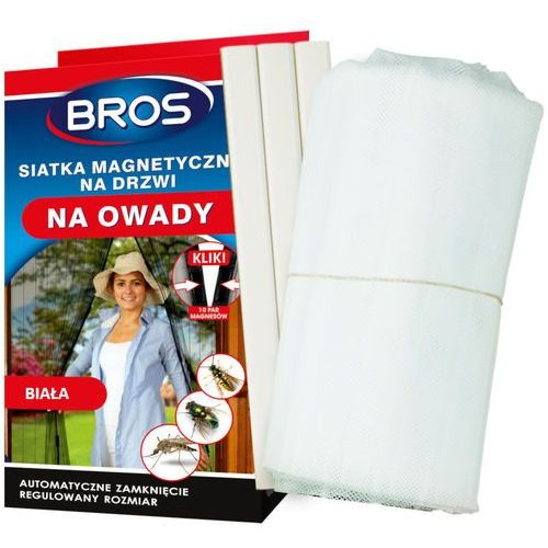 Moskitiera na drzwi na magnesy biała 100x220cm. marki Bros
