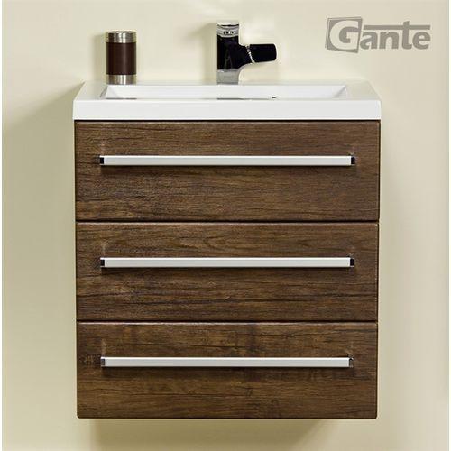 Szafka wisząca z umywalką 60/39/3 seria fokus ad marki Gante
