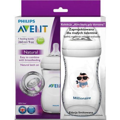 Butelka  natural 260ml + butelka milioner marki Avent